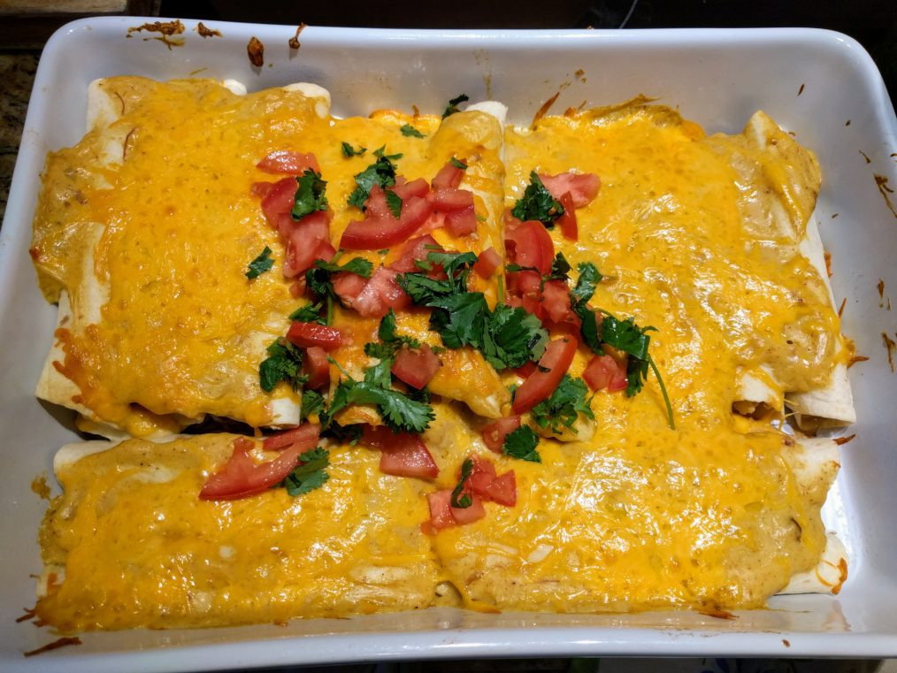 Crema Chicken Enchiladas